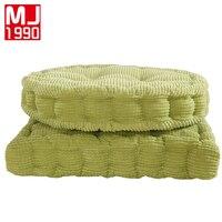 Di alta Qualità Di Spessore 100% Velluto A Coste Elasticizzati Cuscini Per Sedie Per La Cucina Sedia Cuscino del Sedile di Colore Solido Quadrato Cuscini Sul Pavimento di Memoria
