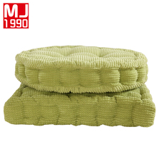 Thick 100% Corduroy Elastic Chair Cushions For Kitchen Solid Color Seat Cushion Square Floor Memory