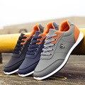 Novo 2016 Homens Sapatos Lace Up Designer Primavera Outono Homens Da Moda homens Sapatos casuais Ao Ar Livre Masculino sapatos de caminhada Para Os Homens Preto Azul