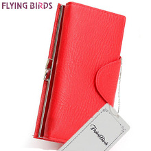 Flying birds! wallets women wallet dollar price leather purse high quality clutch leather purses card bag female pouch LS4953fb
