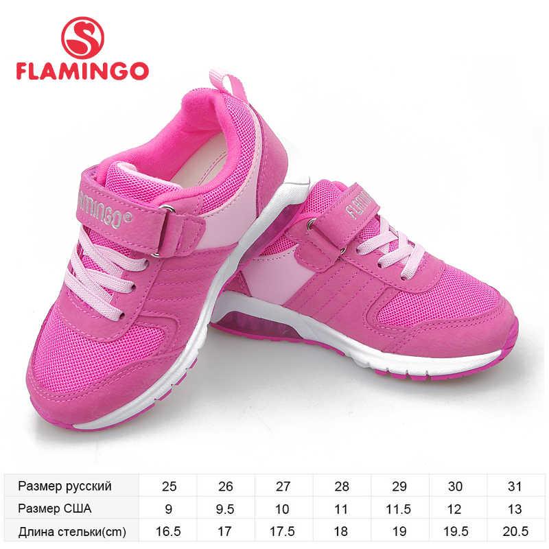 פלמינגו LED ילדי נעלי Orthotic רפידות עור לנשימה אביב ילדי ילדה נעל גודל 25-31 משלוח חינם 91K-NQ-1260