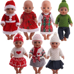 Logan Doll Knit Sweater Fashion Set=Clothes+Hat,BootsFit 18 Inch American&43Cm New Born Baby,Generation,Birthday Girl's Toy Gift(China)