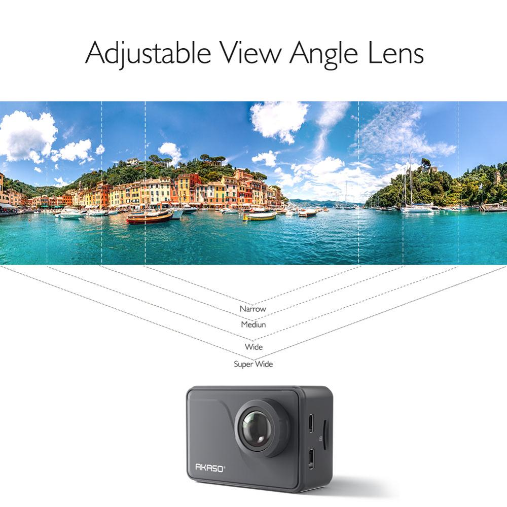 Image 5 - AKASO V50 Pro Native 4K/30fps 20MP WiFi Action Camera EIS Touch Screen 30m Waterproof 4k Sport Camera Support External Micro-in Sports & Action Video Camera from Consumer Electronics
