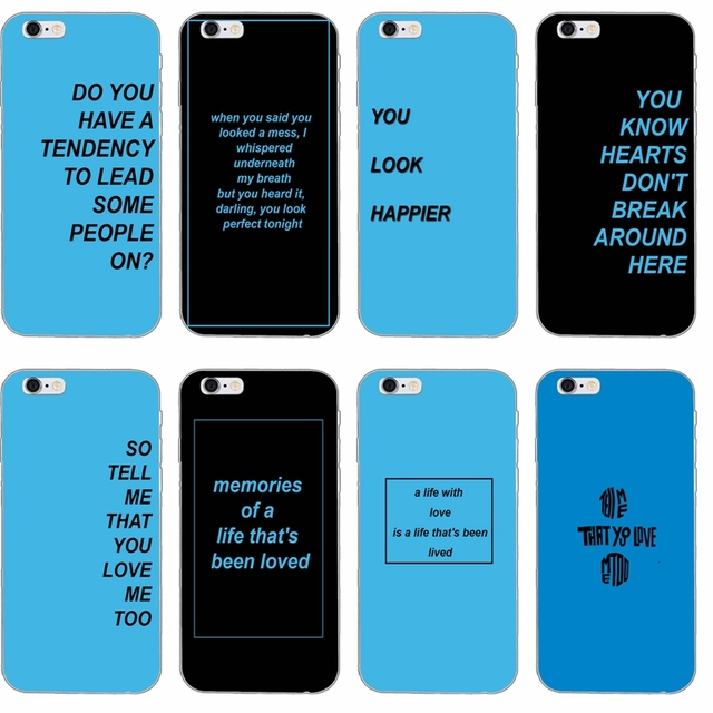 Por Singer Ed Sheeran Lyrics Slim Soft Phone Case For Iphone 4 4s 5 5s 5c Se 6 6s Plus 7 7plus 8 8plus X
