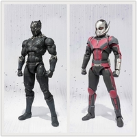 SHF Captain America Civil War Ant Man Black Panther Cartoon Toy Action Figure Model Doll Gift