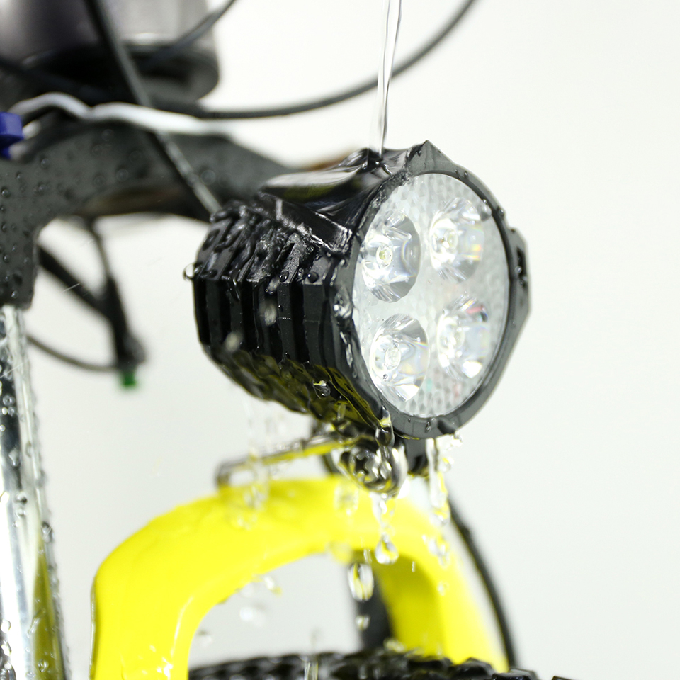 E Bike LED Light Horn Waterproof Flashlight With Horn Electric Headlight Front