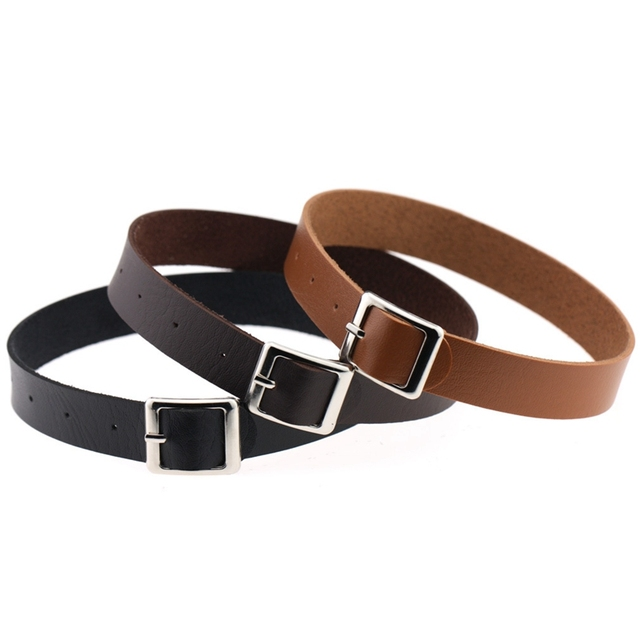 Vintage Harajuku Punk Leather Collar Choker Necklace Strap Women Chokers Necklaces Sexy Jewelry Belt Buckle Adjustable Red Gift