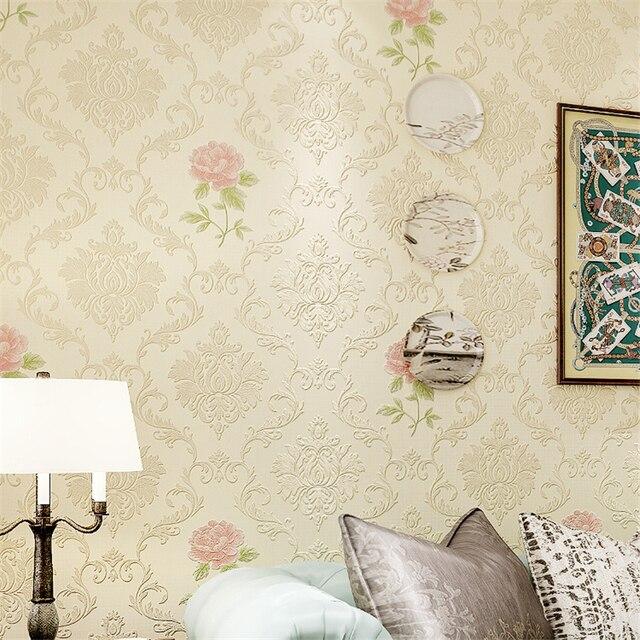 Beibehang papel de parede 3d Europeo piccolo fresco fiori di carta ...
