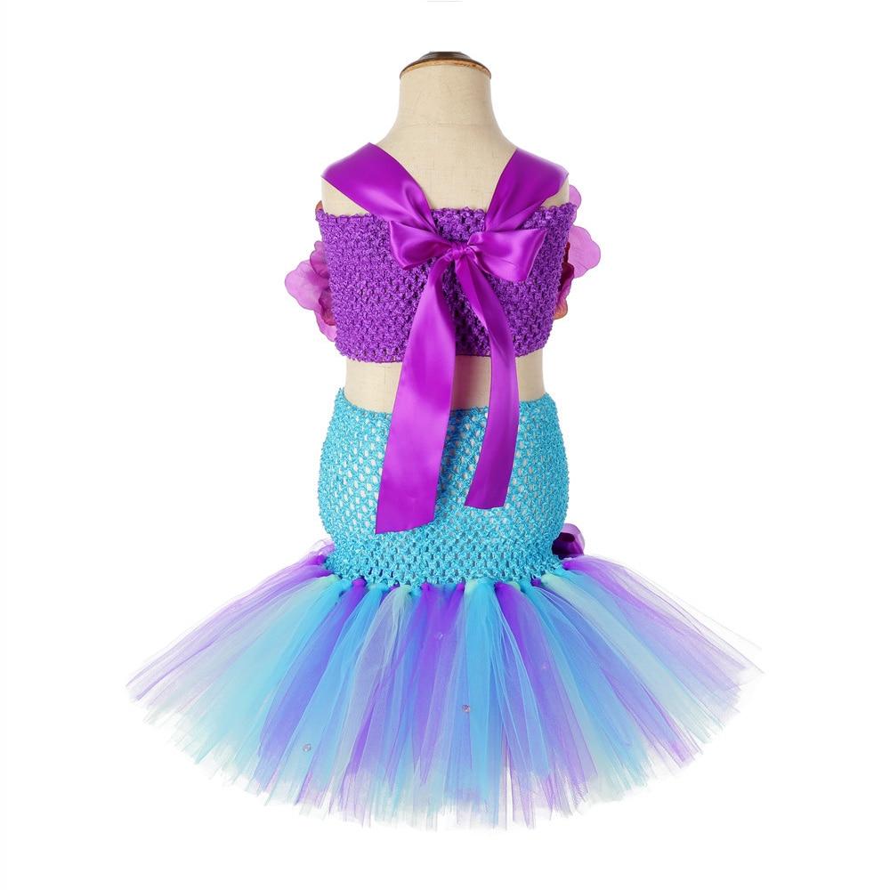 Little Princess Mermaid Girls Tutu Dress with Fish Tail Girls Dresses Age 13 14 Years Old Girls Mermaid Wedding Dresses 3 Pieces (3)