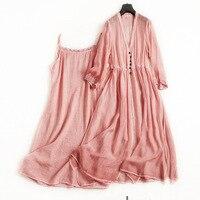 Silk v neck a line dress high quality office lady party dress 2018 new runway women summer 2 piece dress