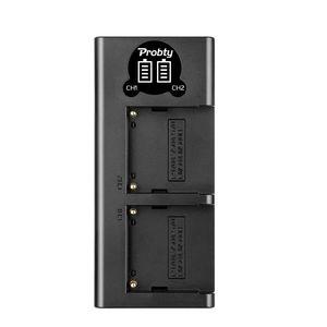 Image 3 - 5200mAh NP F770 NP F750 NP F770 np f750 NPF770 750 Batteries + LED USB Chargeur pour Sony NP F550 NP F770 NP F750 F960 F970