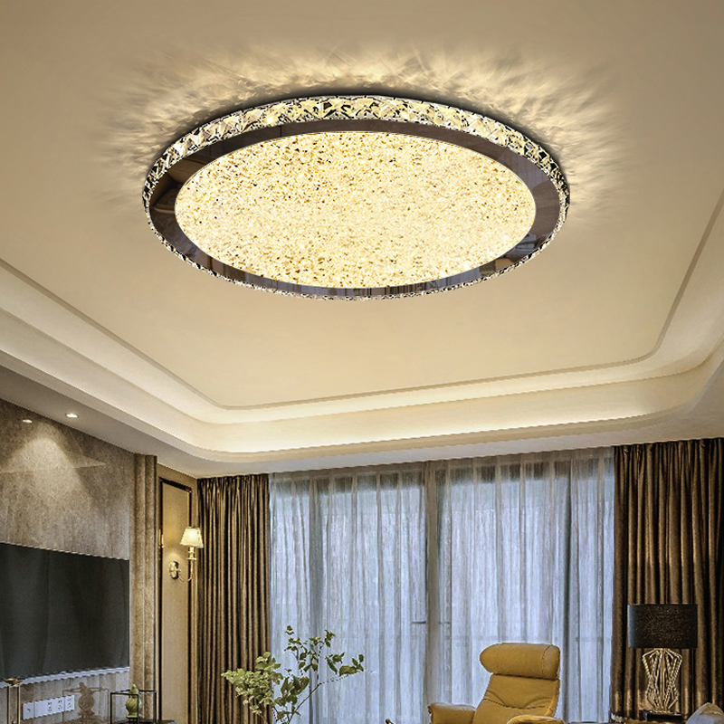 Modern Led K9 Crystal Ceiling Lighting Lights With Remote Control For Living Room Bedroom Kitchen Plafonnier Led Light Fixture
