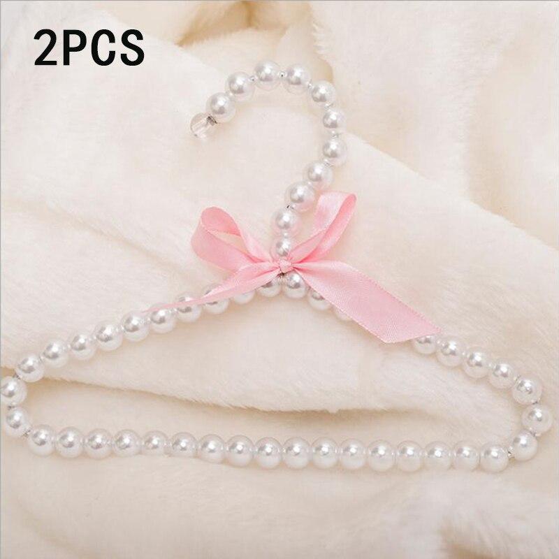 Pearl Bow Tie Decoration Children Pet Dog Cat Clothes Rack Plastic Bead Hanger