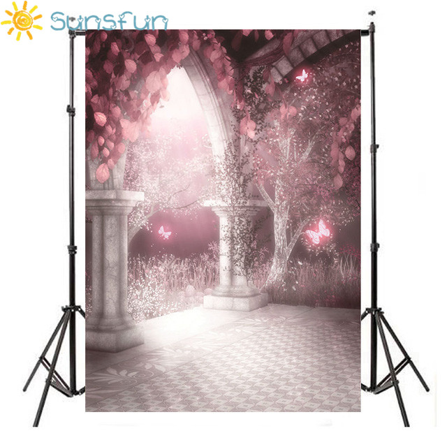 Sunsfun Flowers Gate Photography Backdrops Vinyl 5x7ft or 3x5ft Stor Photo Props Background Wedding HB119
