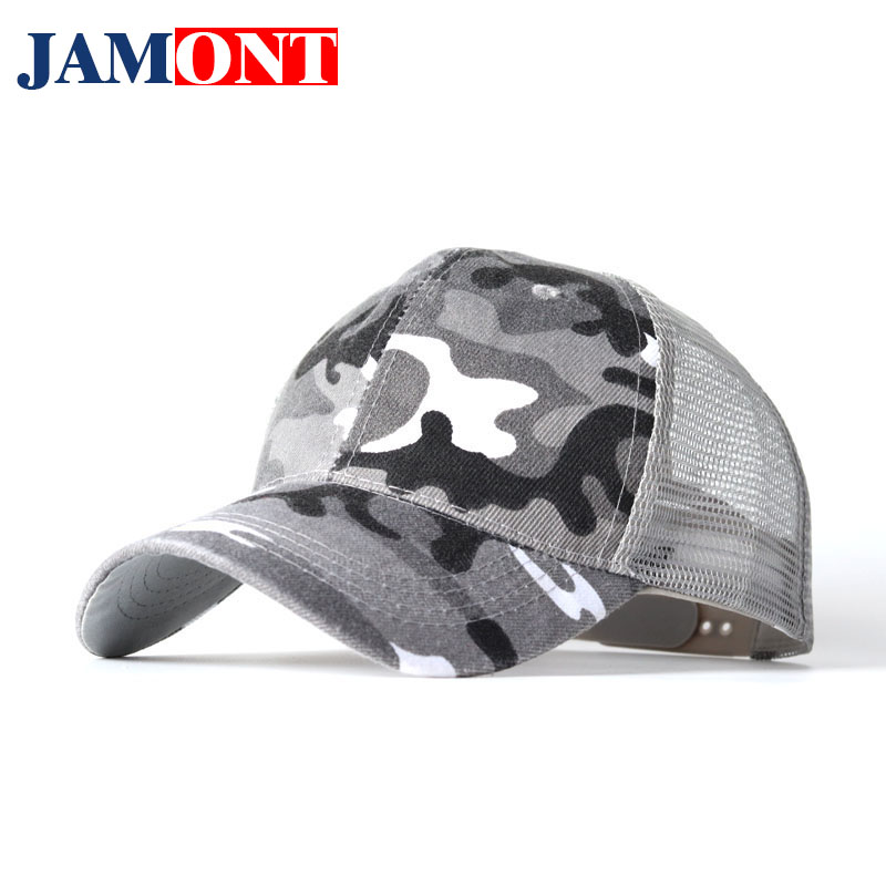 2018 New baseball cap Spring Summer Fashion dad hat Camouflage Trend Pop Hat Men's Casual Hat Silver and Black Adjustable Size wool felt cowboy hat stetson black 50cm