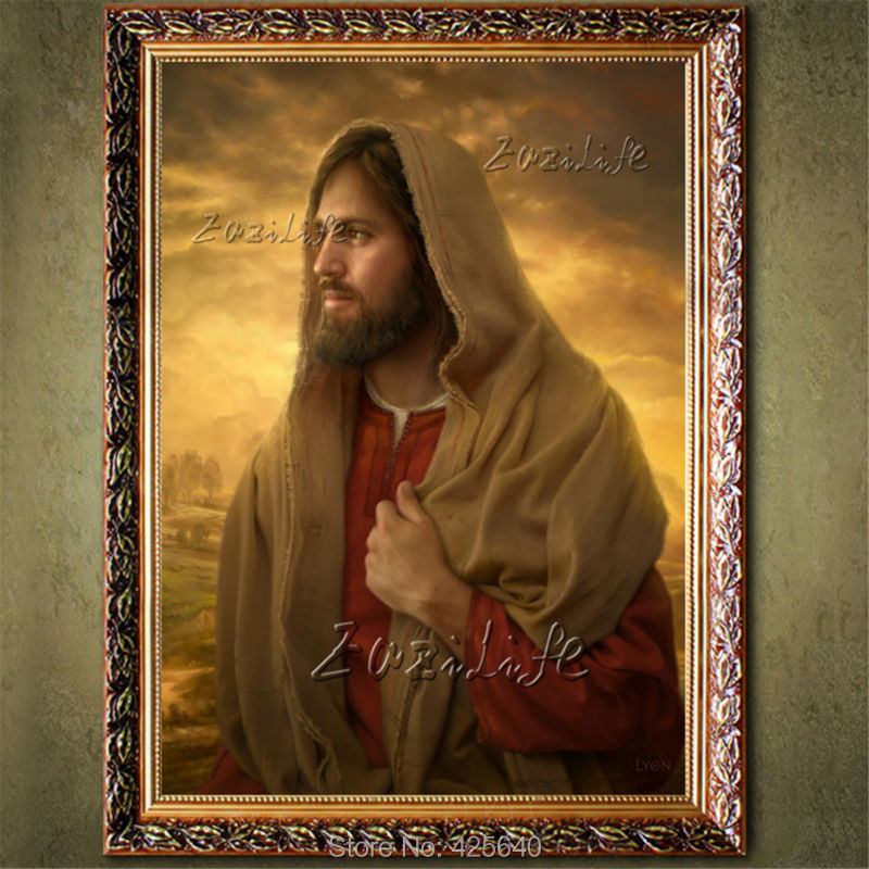 home decor jesus christ christ painting the portrait atributos de jesus framed spanish home decor lordsart