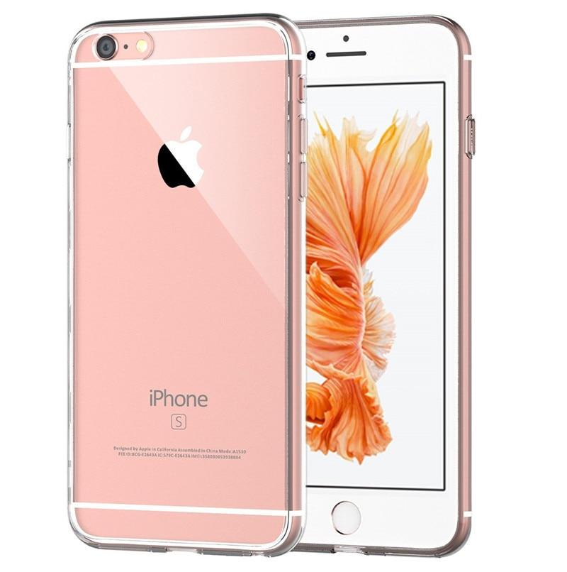 Casos de lujo nueva moda de silicona transparente case para iphone 6 5 5S 6 6 s