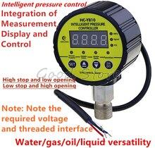 Digital Pressure Gauge Digital Intelligent Pressure Gauge Pump Negative Pressure Water Pressure Switch Controller HC-Y810