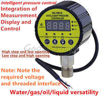 HC-Y810 Digital Pressure Gauge Digital Intelligent Pressure Gauge Pump Negative Pressure Water Pressure Switch Controller Yellow