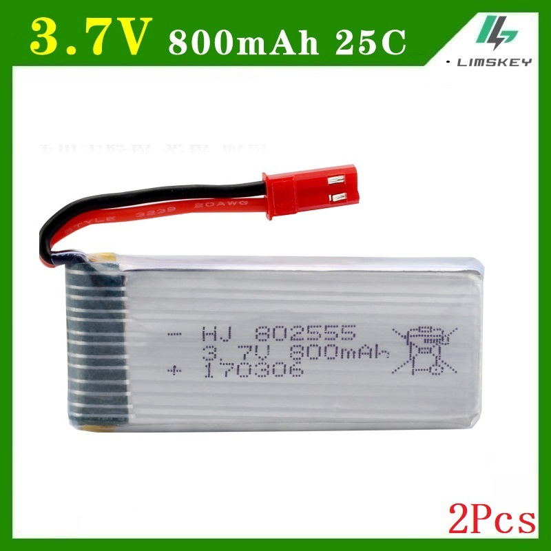 3.7 V 800 mAh Batteria Per DiFeida F181 DFD F187 F163 H12C H12W quadrocopter 3.7 V 800 mAh li-po battery 802555 2 pz/lotto3.7 V 800 mAh Batteria Per DiFeida F181 DFD F187 F163 H12C H12W quadrocopter 3.7 V 800 mAh li-po battery 802555 2 pz/lotto