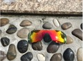 Fire Red Iridium Color Replacement Polarized Lenses for Batwolf Sunglasses 100% UVA & UVB