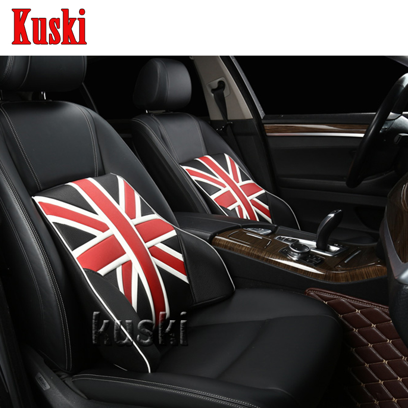 NEW 1pc Comfortable Car Waist Cushion For Renault Laguna Megane 2 3 Duster Logan Clio  Captur Fiat 500 Punto Stilo Bravo for fiat punto fiat 500 stilo panda small hole ventilate wear resistance pu leather front