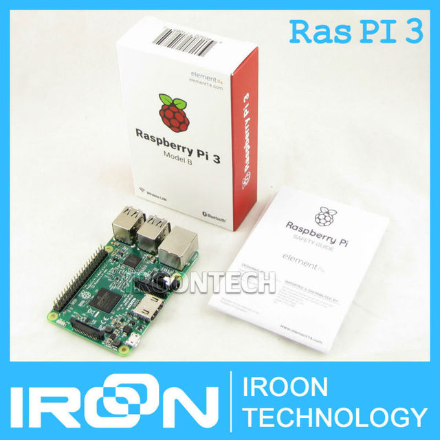 Element14 Version: 2016 neue Raspberry Pi 3 Modell B Bord 1 GB LPDDR2 BCM2837 Quad-Core Ras PI3 B, PI 3B, PI 3 B mit WiFi & Bluetooth