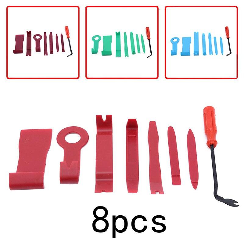8 unids/set herramienta de reparación de coches estéreo Reparación de CD Claw destornillador Radio puerta Clip Panel herramientas de eliminación accesorios de coche