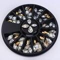 1 Box Золото Серебро Смешанный Цвет Водослива Дизайн 3D Nail Art Украшение в Колеса Маникюр Декор #36987