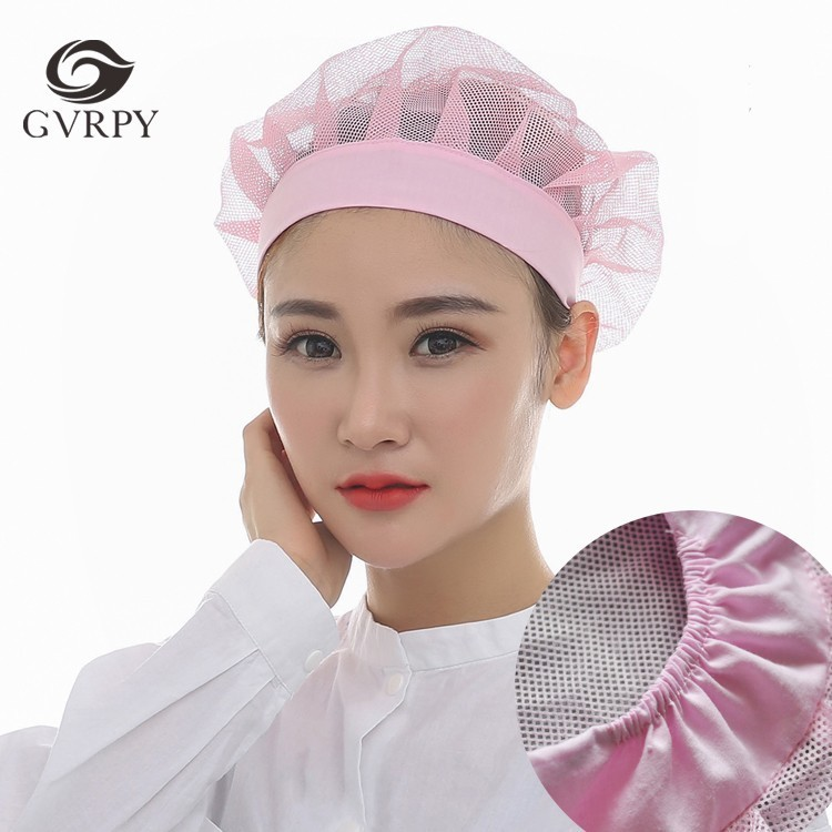 Elastic Mesh Cap Restaurant Hotel Canteen Baking Kitchen Health Work Cap Chef Uniform Workshop Breathable Hat Unisex Wholesale