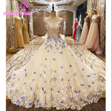 AOLANES Ball Gown Lace Wedding Dress 2017 Bride Dresses