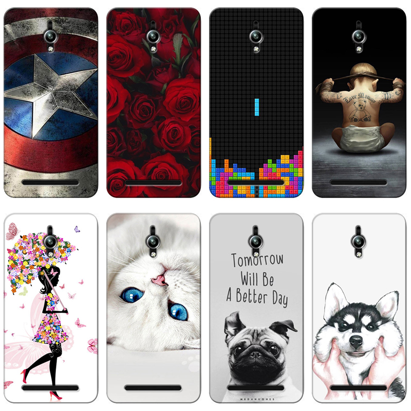Fitted Cases Provided Good Quality Colorful Cases For Asus Zenfone Go Zc500tg Z00vd Printing Drawing Phone Girls Cover Silicone Soft Case Phone Bags & Cases