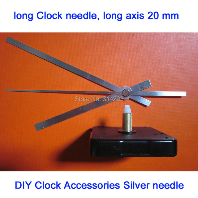 2 set Free shipping New Quartz Clock Movement for Clock Mechanism Repair DIY clock parts accessories shaft 20mm JX005-3