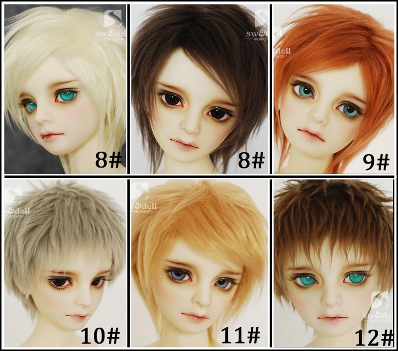 New 1/12 3-4 Inch 9-10cm 1/8 4-5 Inch 12cm 14cm BJD Red Caffeine/brown For AE PukiFee Lati Doll Antiskid BJD Doll Wig