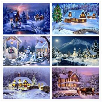 5D Diamond Painting Snow Landscape Mosaic Scenery