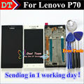 "Alta calidad digitalizador de pantalla táctil + lcd de repuesto para lenovo p70 p70-t p70t celular 5.0 ""negro/Blanco con Marco"