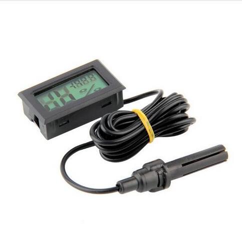 Hot Selling Professional Mini Probe LCD Digital Thermometer Hygrometer Temperature Humidity Meter Digital Display Free shipping
