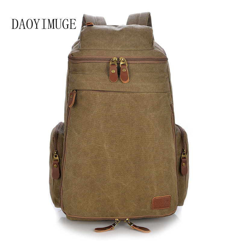 Mens bulky canvas backpacks, the 2018 new mens rucksack travel bagMens bulky canvas backpacks, the 2018 new mens rucksack travel bag