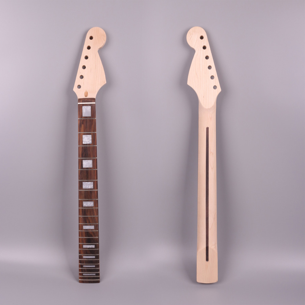 ST electric guitar neck unfinished 22 fret 24.75 inch 628mm mahogany made rosewood fingerboard new high quality unfinished electric guitar neck mahogany made rosewood fingerboar