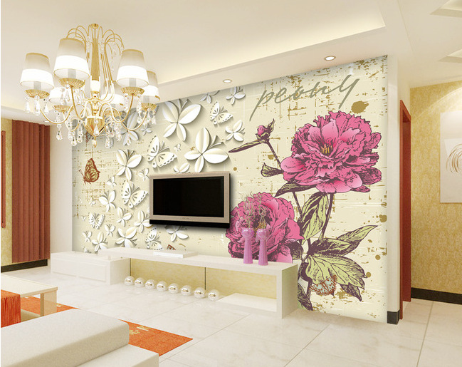 Buy european minimalist mural living room - Tapisserie moderne pour salon ...