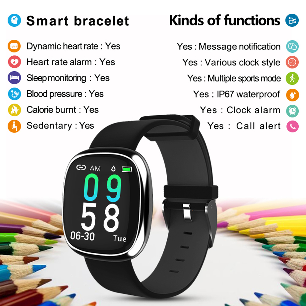 Image 2 - New Screen Activity Tracker Waterproof Smart Bracelet Blood Pressure Pedometer Smart Wristband Heart Rate Monitor  mens women-in Smart Wristbands from Consumer Electronics