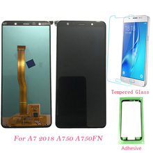 Test LCD 6.0 For Samsung Galaxy A7 2018 A750 A750G SM-A750F SM-A750FN Touch Screen Digitizer Display A750F