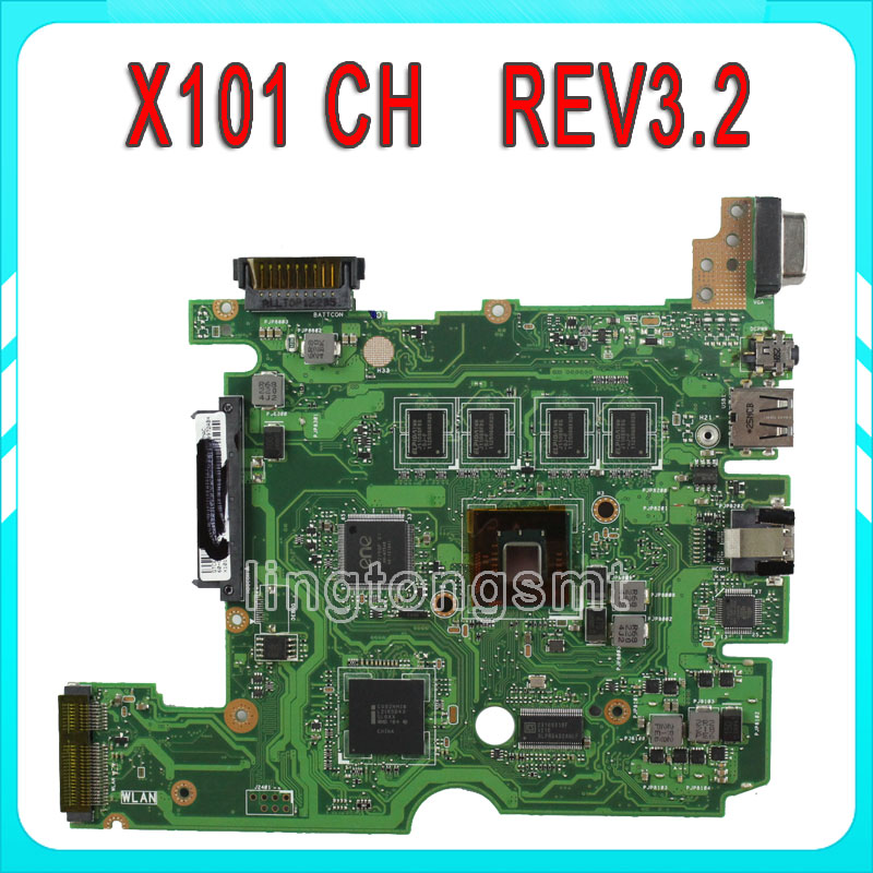 for ASUS X101CH laptop motherboard X101CH mainboard REV3.2 fully Tested well for msi ms 10371 intel laptop motherboard mainboard fully tested works well