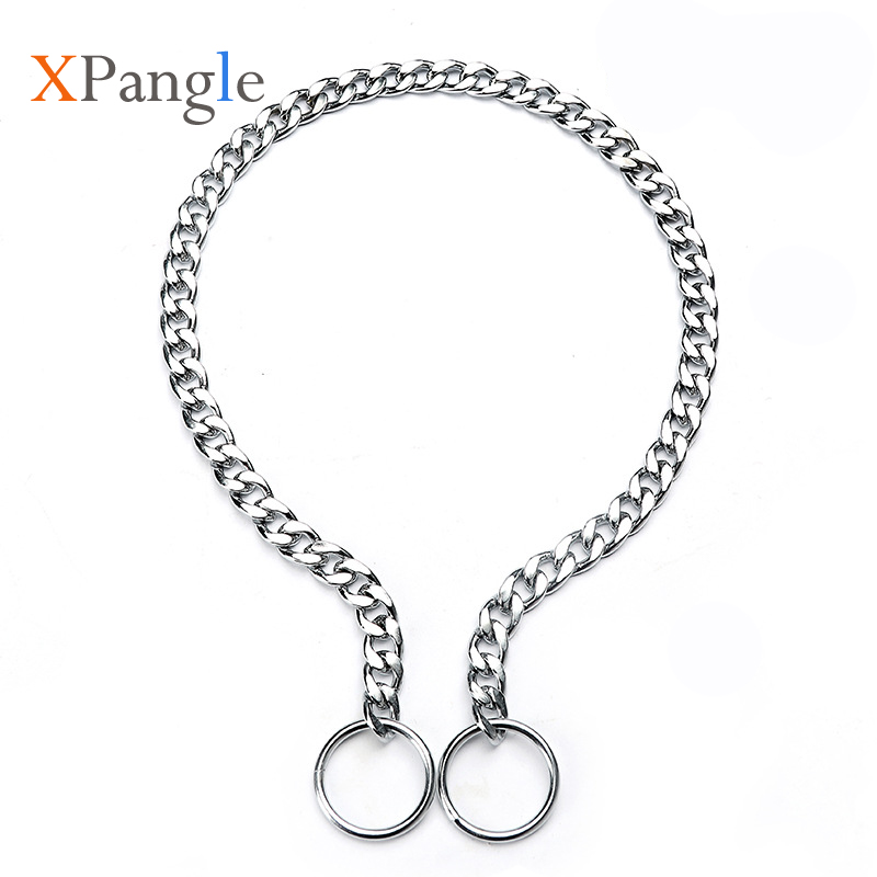 Stainless Steel Dog Collar Accessories Traction P Chain