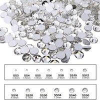 Ss3-ss40 Кристалл Клей на плоской задней ногтей Стразы блеск ногтей Камни, 3D ногтей Аксессуары