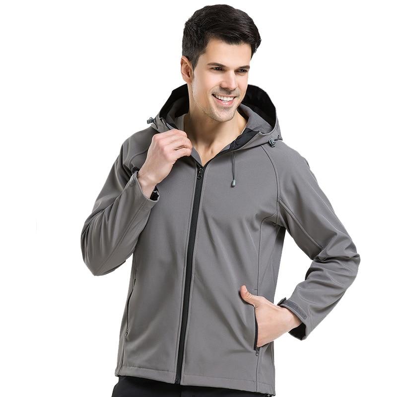 IEMUH Outdoor Soft Shell Fleece Jacket Ерлер Polartec - Спорттық киім мен керек-жарақтар - фото 4
