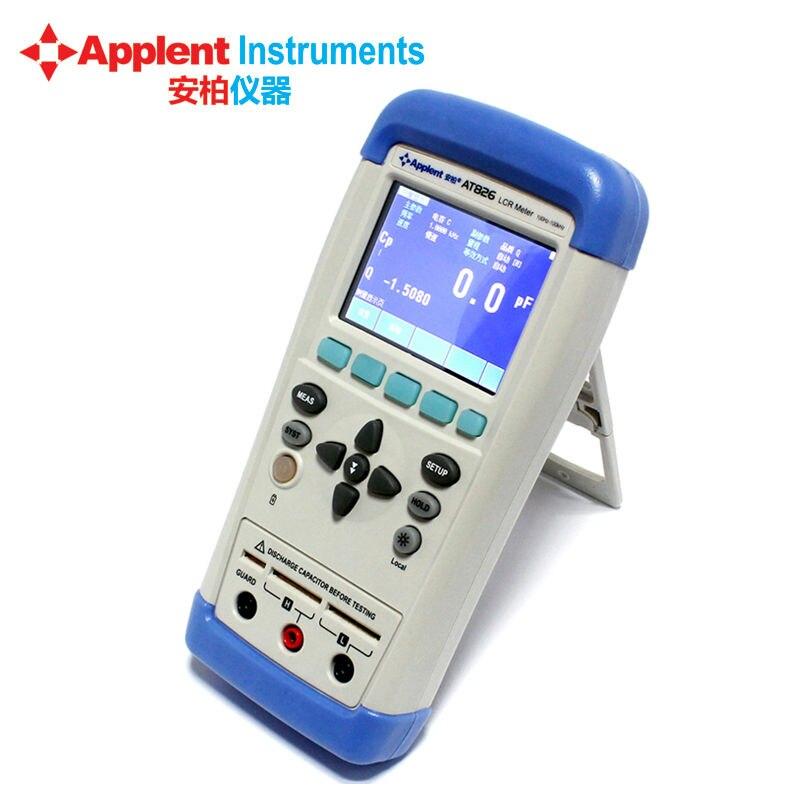 Applent AT826 Handheld LCR Digital Meter Inductance Capacitance Resistance Meter Tester Electric Bridge ut612 digital lcr meter with inductance capacitance resistance frequency tester