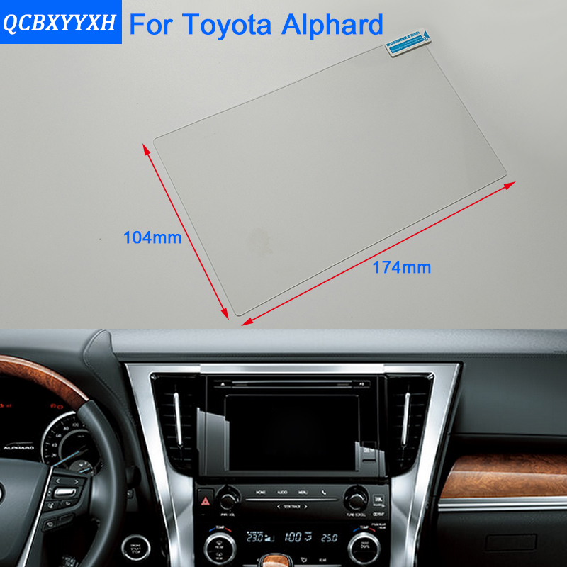 Car Styling 8 Inch GPS Navigation Screen Steel Glass Protective Film For Toyota Alphard Control of