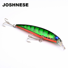 JOSHNESE Floating Fishing Lures Minnow 11cm Konstgjord Bait Plast Wobbler Bass Lure Fiskehantering Multi Color Fishing Baits