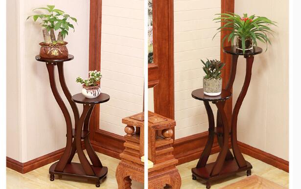 Solid wood flower stand home living room rack wooden multi-layer indoor balcony bonsai green flower shelf landing Nordic
